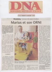 Article paru dans les DNA le 12 juin 2009